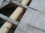 Sostituzione travi marce su vecchio tetto in legno